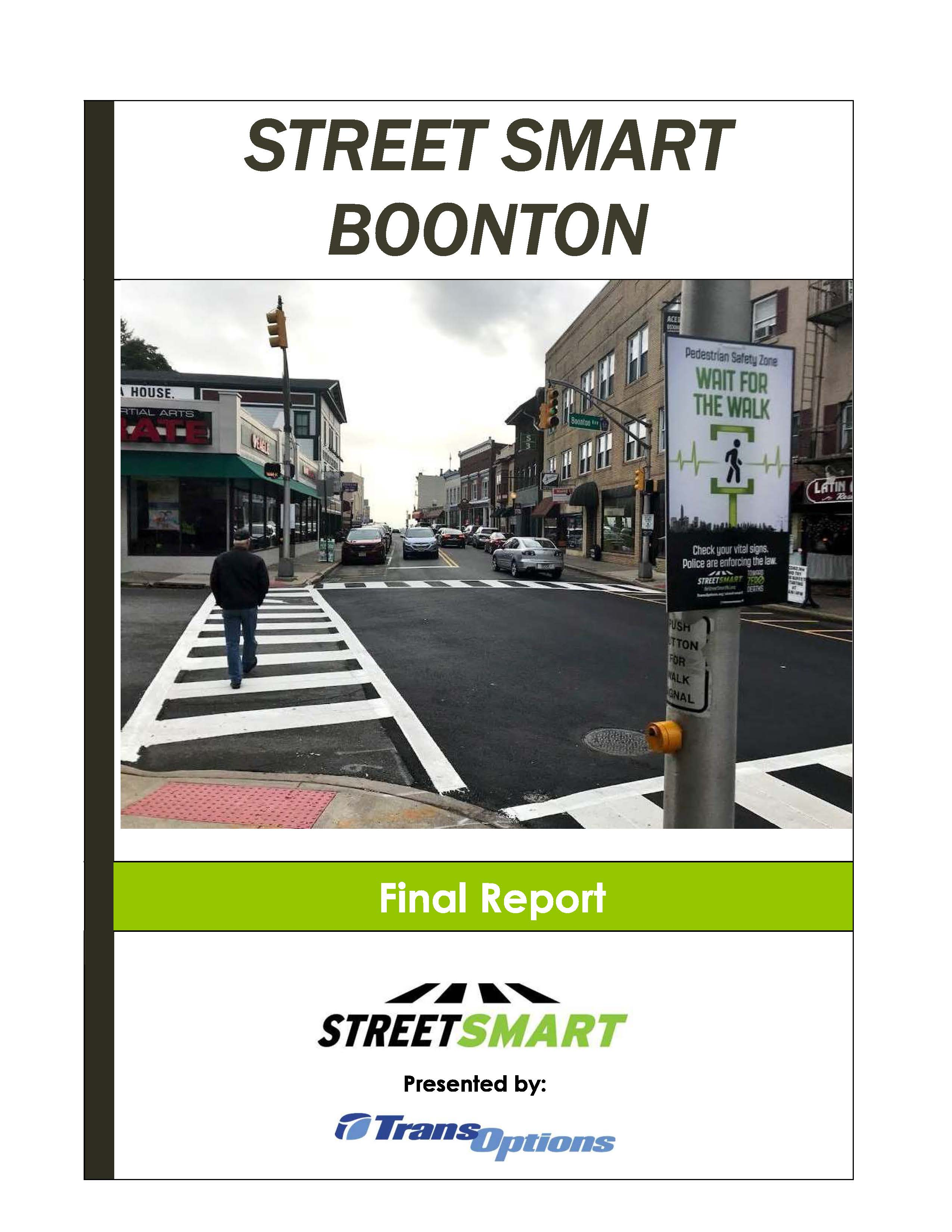 Street Smart Boonton Report Cover