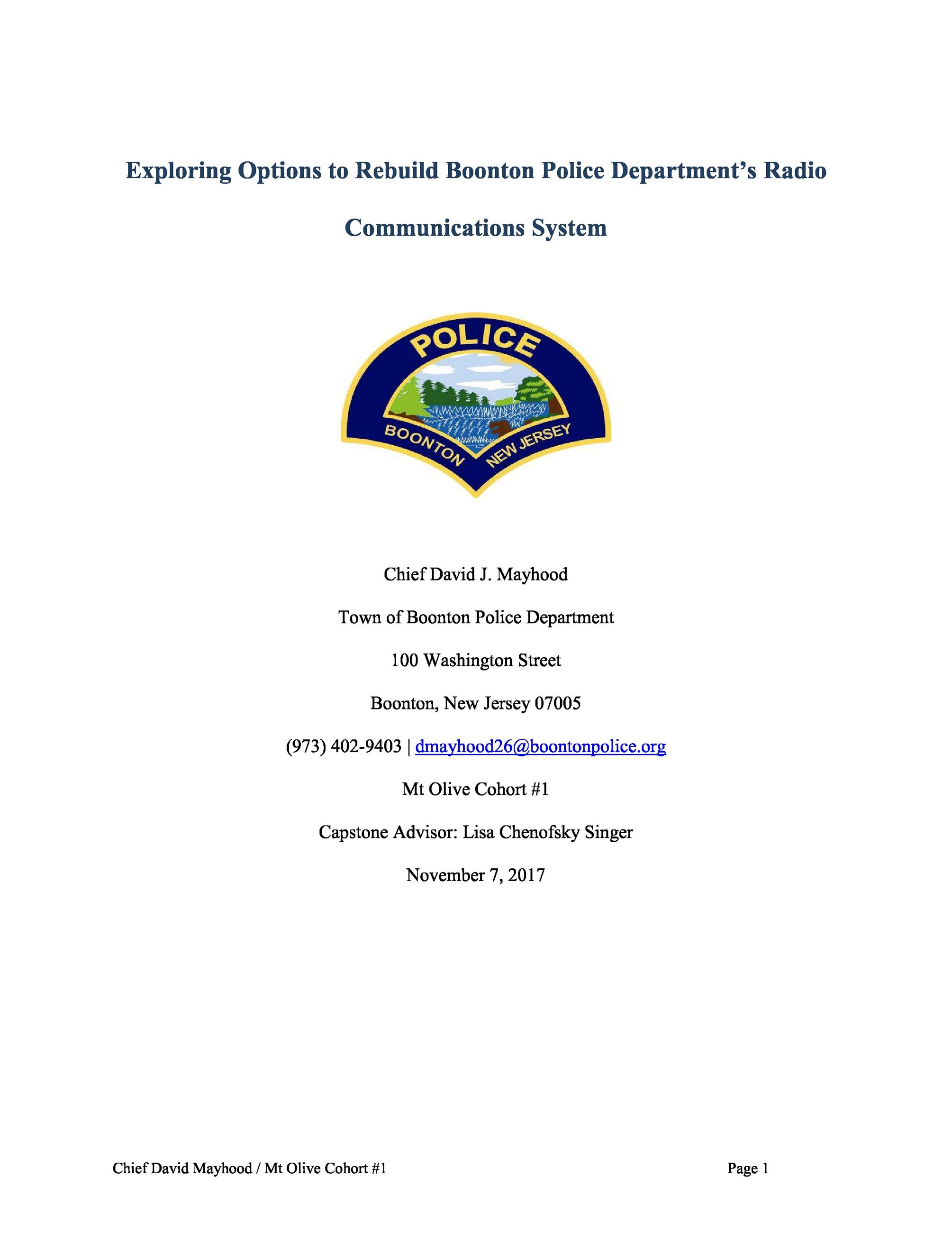 BPD REPORT COVER Page