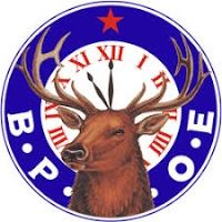 Elks behing blue circle with red star