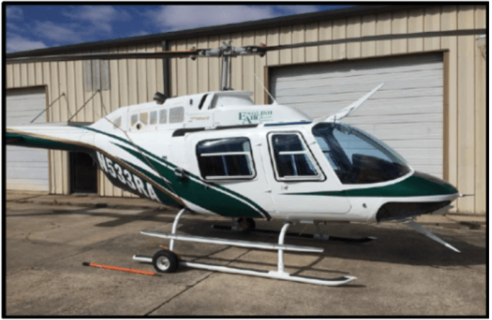 JCPL Green and White Helicopter