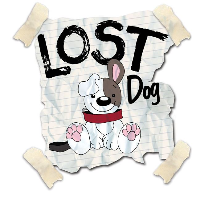CARTOON POSTER OF A LOST DOG