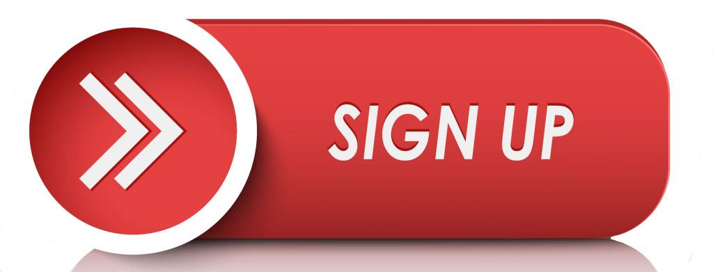 sign up button in red