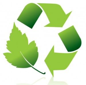 leaf recycling logo in green