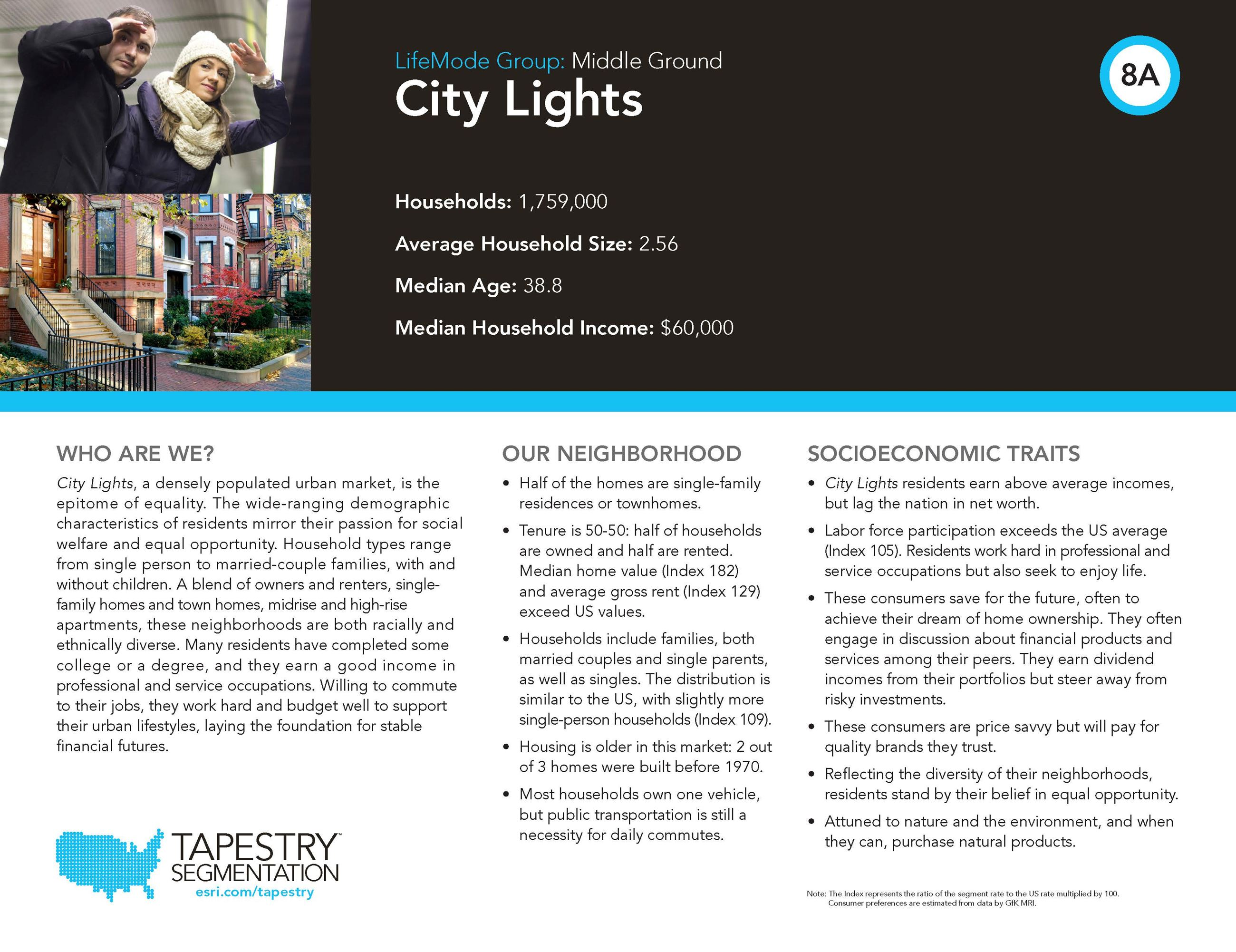 City Lights Demographic Description